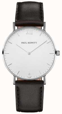 Paul Hewitt Unisex Sailor Black Leather Strap PH-SA-S-SM-W-2M