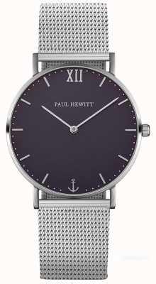 Paul Hewitt Unisex Sailor Silver Steel Mesh Bracelet PH-SA-S-ST-B-4M
