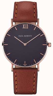 Paul Hewitt Unisex Sailor Brown Leather Strap PH-SA-R-ST-B-1M
