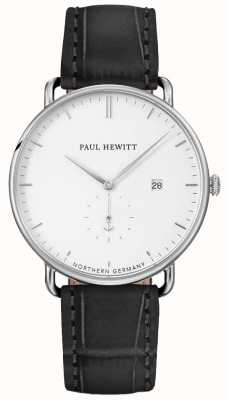 Paul Hewitt Unisex The Grand Atlantic Black Leather Strap PH-TGA-S-W-15M