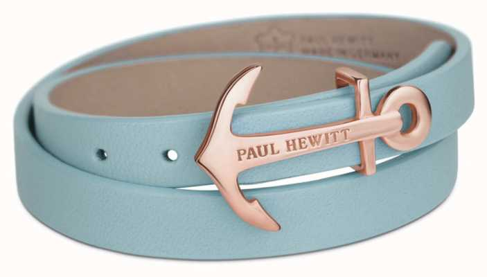 Paul Hewitt Northbound Niagara Blue Leather Wrap Bracelet PH-WB-R-23S