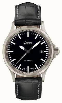 Sinn 556 I Sports Sapphire Glass Black Alligator Embossed Leather 556.010