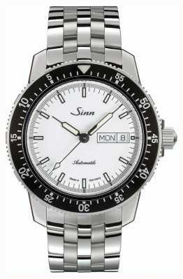 Sinn 104 St Sa I W Classic Pilot Watch Stainless Steel Fine Strap 104.012