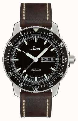 Sinn 104 St Sa I Classic Pilot Watch Dark Brown Vintage Leather 104.010