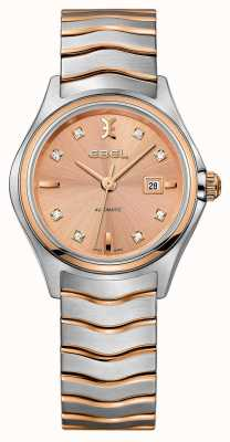 EBEL Womens Wave Two-tone Rose-gold Watch 1216328