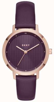 DKNY Womans Modernist Purple Rose Gold NY2640