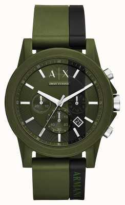 Armani Exchange Mens Green Chronograph Watch AX1333