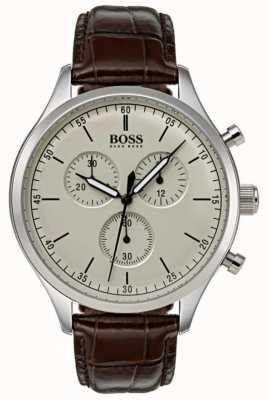 Hugo Boss Mens Companion Chronograph Brown Leather Strap 1513544