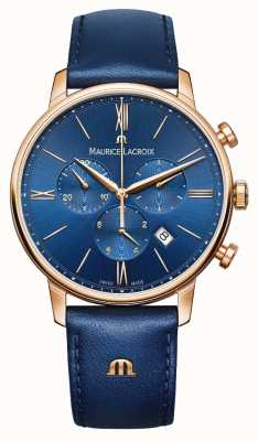 Maurice Lacroix Eliros Chronograph Blue And Gold Watch EL1098-PVP01-411-1