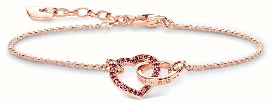 Thomas Sabo Rose Gold Plated Together Heart Bracelet A1648-549-10-L19V
