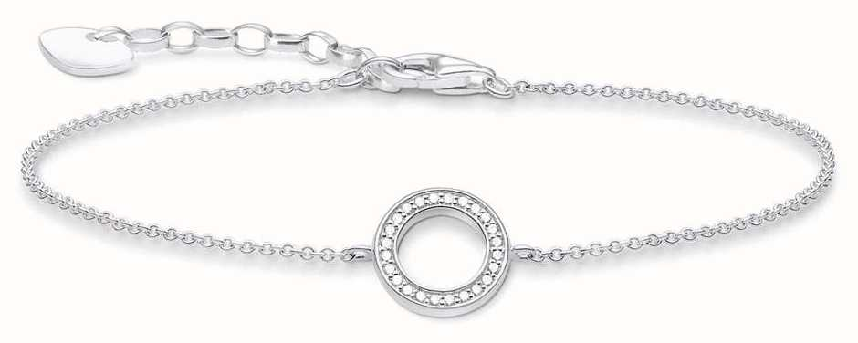 Thomas Sabo Sterling Silver Circle Bracelet A1652-051-14-L19V