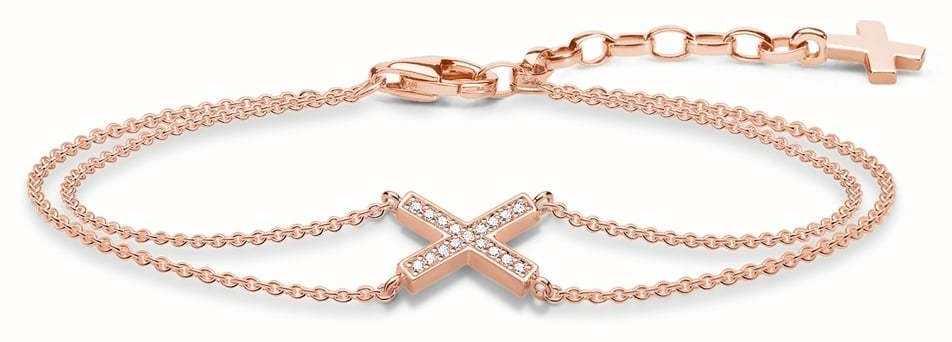 Thomas Sabo Rose Gold Plated Wrap Bracelet A1659-416-14-L19V