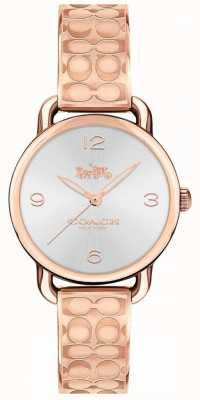 Coach Womans Delancey Watch Rose Gold Tone 14502893