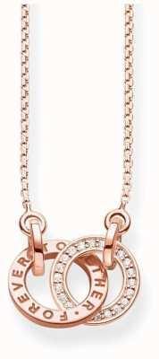 Thomas Sabo Rose Gold Plated Together Necklace KE1488-416-40-L45V