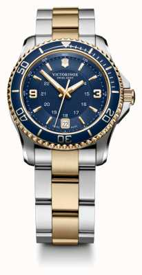 Victorinox Swiss Army Womans Maverick Two Tone Bracelet Blue Dial 241790