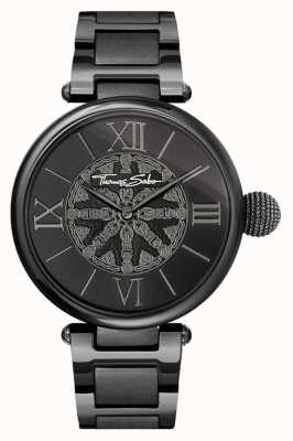 Thomas Sabo Womans Karma Black IP Steel Watch WA0307-202-203-38