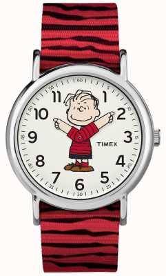 Timex Weekender Peanuts Linus Red Strap TW2R412006B
