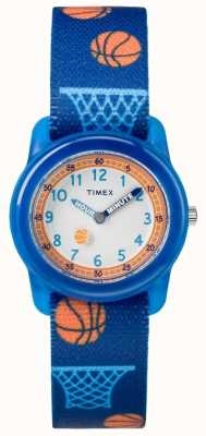 Timex Youth Analogue Blue Strap Basketball TW7C168004E
