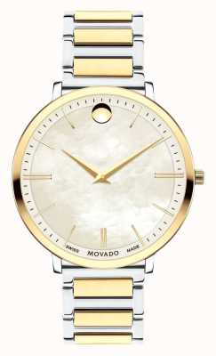 Movado Women's Ultra Slim Two Tone Watch 0607171