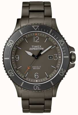 Timex Mens Expedition Ranger gun metal bracelet Grey Dial TW4B10800