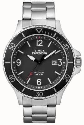 Timex Mens Expedition Ranger Metal Bracelet Black Dial TW4B10900