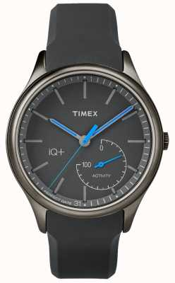Timex Mens IQ Plus Move Grey Silicone Strap TW2P94900
