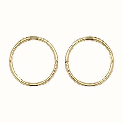 Treasure House 9k Yellow Gold Hinged Sleepers 10 mm ES144