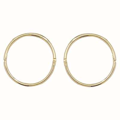 James Moore TH 9k Yellow Gold Hinged Sleepers 12 mm ES145