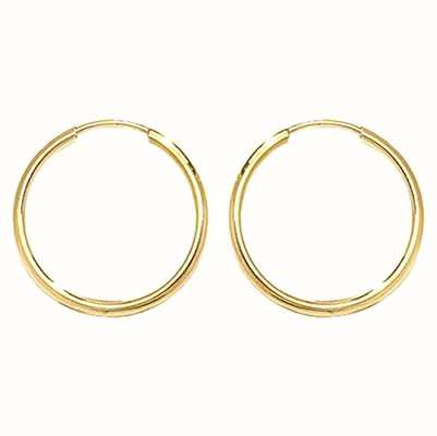 James Moore TH 9k Yellow Gold 14mm Sleepers ES111