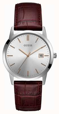 Guess Mens Camden Dress Date Watch Silver W0998G2