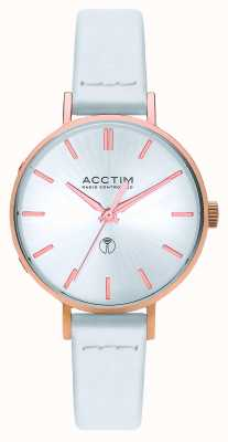 Acctim Womens Bonny Radio Controlled White Leather Watch 60512