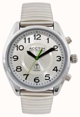 Acctim Mens Highclere Radio Controlled Talking Steel Watch 60357BRA
