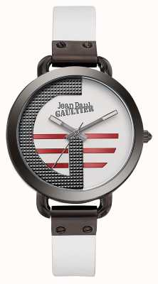 Jean Paul Gaultier Womens Index G White Leather Strap White Dial JP8504317