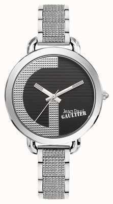 Jean Paul Gaultier Womens Index G Stainless Steel Bracelet Black Dial JP8504318