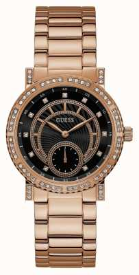 Guess Womens Constellation Rose Gold Tone Watch W1006L2