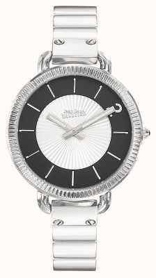 Jean Paul Gaultier Womens Index Stainless Steel Bracelet Silver Dial JP8504301