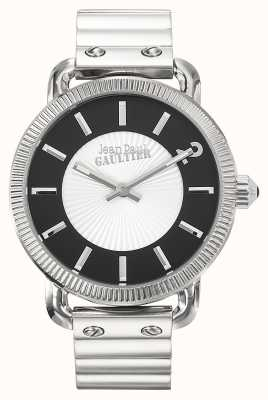 Jean Paul Gaultier Mens Index Stainless Steel Bracelet Silver Dial JP8504401