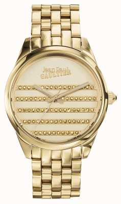 Jean Paul Gaultier Navy Gold PVD Bracelet Gold Dial JP8502405