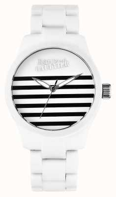 Jean Paul Gaultier Enfants Terribles White Rubber Steel Bracelet White Dial JP8501101