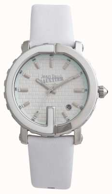 Jean Paul Gaultier Womens Point G White Leather Strap White Dial JP8500506