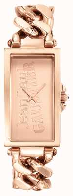 Jean Paul Gaultier Enchainee Rose Gold PVD Bracelet Rose Gold Dial JP8500904