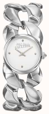 Jean Paul Gaultier Womens Maxi Chaine Stainless Steel Bracelet Silver Dial JP8504601