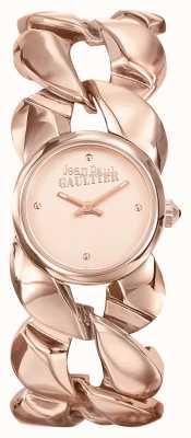Jean Paul Gaultier Womens Maxi Chaine Rose Gold PVD Bracelet Rose Gold Dial JP8504603