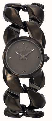 Jean Paul Gaultier Womens Maxi Chaine Gun Metal Bracelet And Dial JP8504604