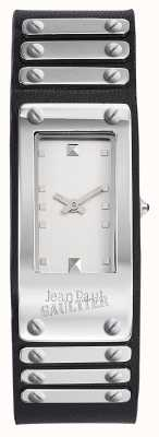 Jean Paul Gaultier Factory Black Leather Strap White Dial JP8503801