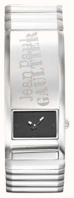 Jean Paul Gaultier Identite Stainless Steel Bracelet Black Dial JP8503704