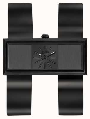Jean Paul Gaultier Womens Double Jeu Black PVD Bracelet Black Dial JP8505007