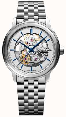 Raymond Weil Mens Automatic Stainless Steel Skeleton Dial 2215-ST-65001