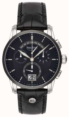 Bruno Sohnle Grandioso 42.5mm Black Leather Watch 17-73117-741