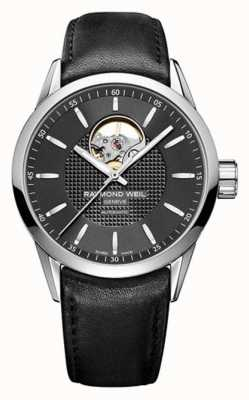 Raymond Weil Mens Freelancer Automatic Black Leather Strap Black Dial 2710-STC-20021